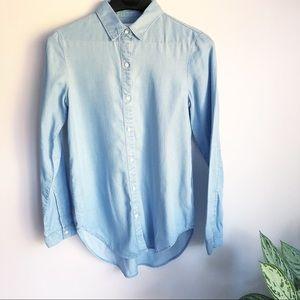 AYR The Clean Shirt button down chambray denim top
